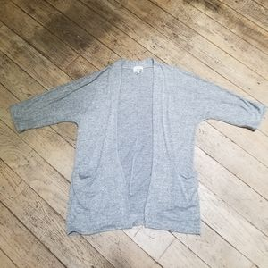 Wilfred Free Light Grey Open Long Cardigan XS